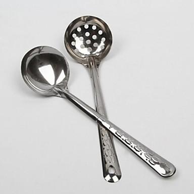 1 adet paslanmaz çelik 430 çorba kaşığı çift kişilik mutfak aletleri yiyiyor