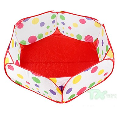 kültéri gyermekmedence ötszögletű ball pool játék