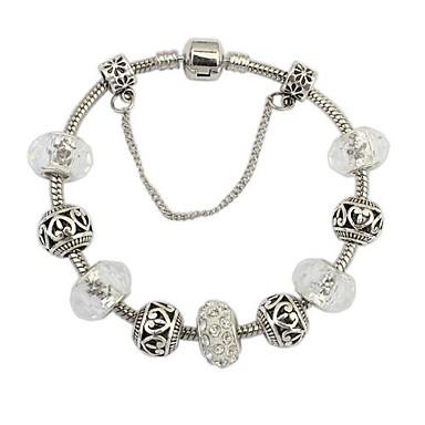 Women's Charm Bracelet Fashion European Resin Rhinestone Alloy Jewelry Daily Costume Jewelry White/Sliver
