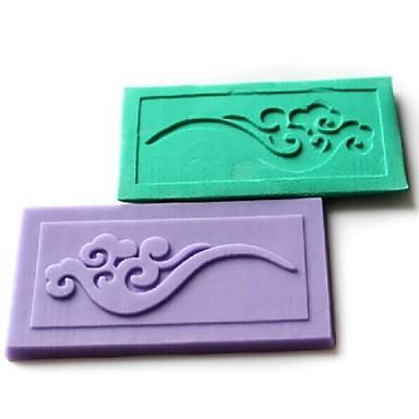 bulutlar dantel kabartma fondan kek çikolata silikon kalıp pedi ölür, l7.1cm * w3.9cm * h0.4cm rastgele renk