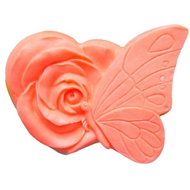 Butterfly Flowers Fondant Cake Chocolate Silicone Mold Cake Decoration Tools,L9.5cm*W7.5cm*H4.3cm