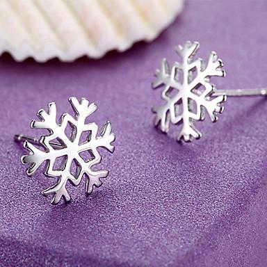 halpa Naisten korut-Naisten Lumihiutale Sterling-hopea Niittikorvakorut - Ruudun väri korvakorut Käyttötarkoitus
