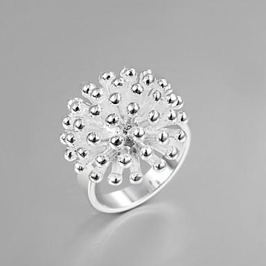 Feminino Anéis Grossos Borlas Moda bijuterias Prata de Lei Jóias Para Casamento Festa Diário Casual