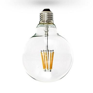 abordables Ampoules électriques-1pc 6 W Ampoules à Filament LED 600 lm E26 / E27 G125 6 Perles LED COB Intensité Réglable Blanc Chaud 220-240 V 110-130 V / RoHs
