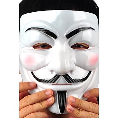 Недорогие Праздничные маски-Маски на Хэллоуин V — значит вендетта пластик Ужасы Взрослые
