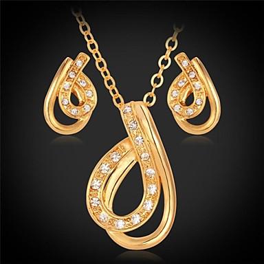 Women's Unisex Synthetic Diamond Rhinestone Imitation Diamond Jewelry Set Earrings Necklace - Vintage Cute Party Work Casual Cute Style