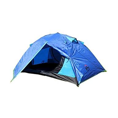 3-4 kişi Çadır Duble Kamp çadırı Nemgeçirmez İyi Havalandırılmış Su Geçirmez Rüzgar Geçirmez Yağmur-Geçirmez Anti-Böcek Hava Alan