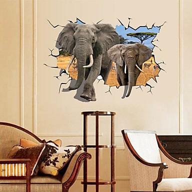 애니멀 로맨스 정물화 패션 풍경 판타지 3D 벽 스티커 3D 월 스티커 데코레이티브 월 스티커,종이 자료 이동가능 홈 장식 벽 데칼