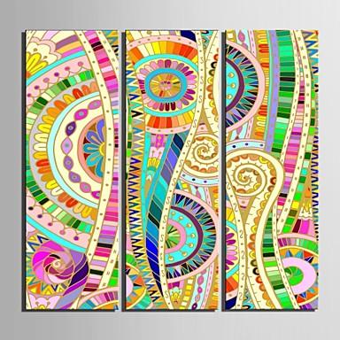 e-FOYER toile tendue es le modèle de couleur décorative ensemble de trois de peinture