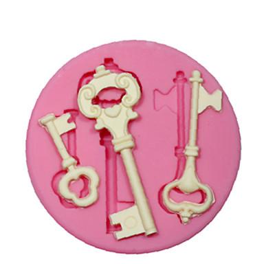 silikon mold / mugg steampunk skjelett nøkkel for håndverk smykker sjokoladefondant PMC harpiks leire