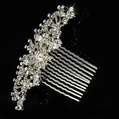 gümüş alaşımlı saç tarakları çiçek başlığı zarif stili