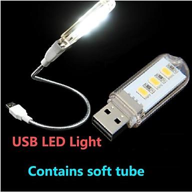 LED-Nachtlicht LED-Leselampe USB Weiß PC 1 Lampe 6.0*2.0*1.0cm
