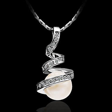 Women's Pendant Necklace Sterling Silver Pendant Necklace , Party Casual