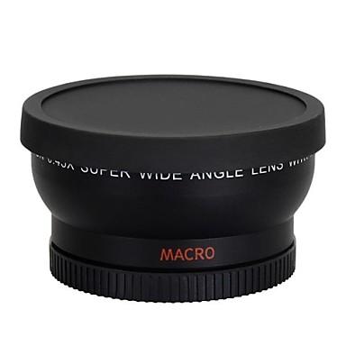 Nikon Canon EOS 500D asi T1i t2i T3i t4i 450D 550D için 0.45x 58mm geniş açılı lens