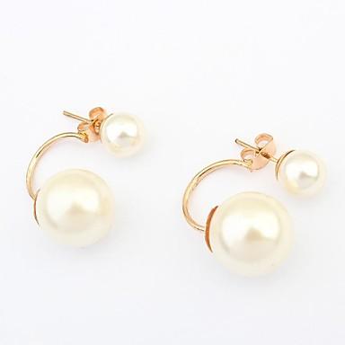 Boucles d'oreille goujon Perle Imitation de perle Alliage Écran couleur Bijoux 2pcs