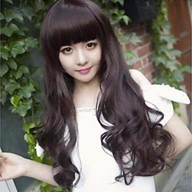 Youth beautiful beautiful big wavy brown long curly black hair