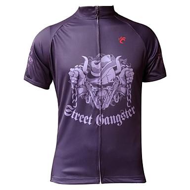JESOCYCLING Муж. С короткими рукавами Велокофты Велоспорт Джерси Синий---Быстровысыхающий, Ультрафиолетовая устойчивость, Дышащий