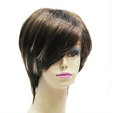 Men's Women's Synthetic Wig Straight Black Wig Costume Wig