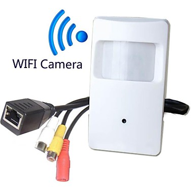 720p wifi pir mozgásérzékelő audio videó kamera pir forma wifi kamera pir ip kamera 1.0mp (ingyenes pickup)