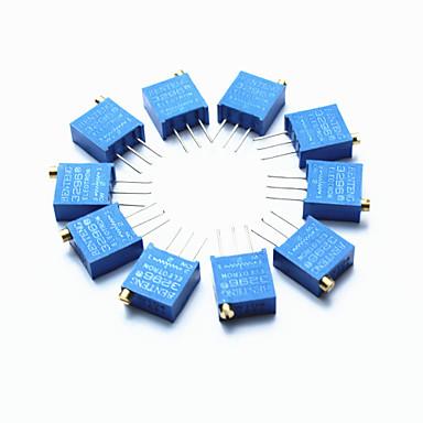 3296 Hochpräzisions 104 100 kOhm variablen Widerstand Potentiometer Trimmer - blau (10 Stück)
