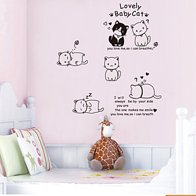 Environmental Removable Lovely Cat PVC Wall Sticker