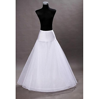Wedding Slips Floor-length A-Line Slip With Wedding Accessories