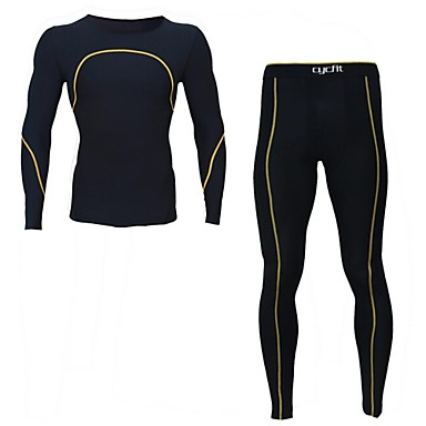 Course / Running Vêtements de Compression/Sous maillot / Ensemble de Vêtements/Tenus Homme Manches longuesRespirable / Séchage rapide /