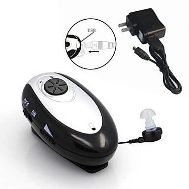 Новый мини аккумуляторная слуховой аппарат помогает регулируемая тон усилитель звука аудифон карманные тело acousticon
