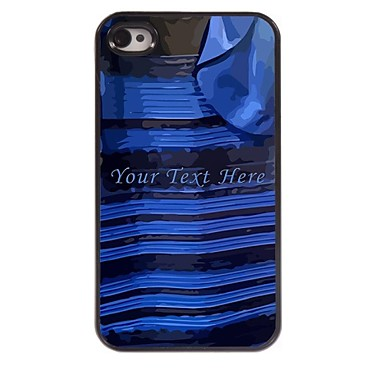 Personalized Phone Case - Black and Blue Dress Design Case for iPhone 4/4S