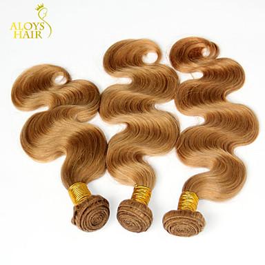 Ινδική Κυματομορφή Σώματος Υφάνσεις ανθρώπινα μαλλιών 3 Κομμάτια 0.3