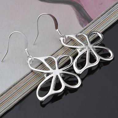 여성 스터드 귀걸이 드랍 귀걸이 틴타늄 Circle Shape Geometric Shape 버터플라이 동물 보석류