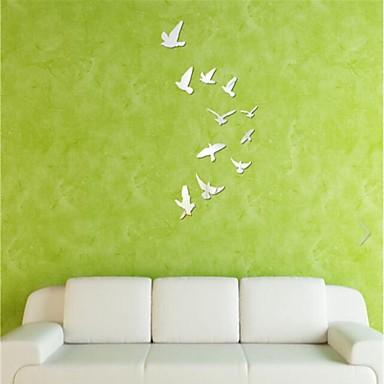 tükör falimatrica fali matricák, barkács 11db madarak tükör akril falimatrica