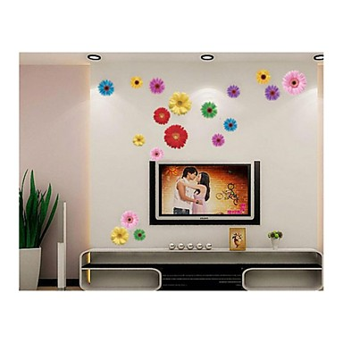 Wall Stickers Wall Decals, Style Romantic Chrysanthemum PVC Wall Stickers