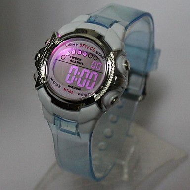 아동 패션 시계 디지털 시계 손목 시계 석영 디지털 Plastic 밴드 블루 오렌지 퍼플