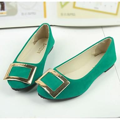 Γυναικεία παπούτσια - Μπαλαρίνες - Καθημερινά - Επίπεδο Τακούνι - Μυτερό - Ύφασμα - Πράσινο / Ροζ / Μωβ