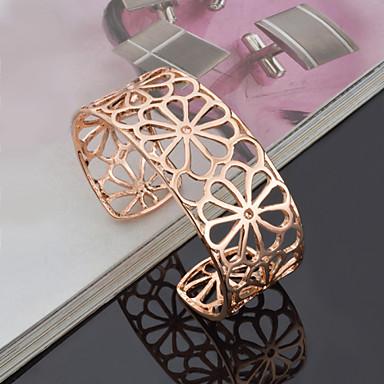 Bilezikler Halhallar alaşım / Titanyum Çelik Düğün / Parti Mücevher Hediye Altın,1pc
