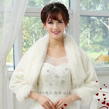 Bontstola's / Bruiloft Wraps Jassen / Jackets Lange Mouw Imitatiebont Wit Bruiloft / Feest/Avond Open Voorkant