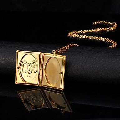 Damen vergoldet 18K Gold Anhängerketten Medaillon Halskette  -  Modisch Modische Halsketten Für Hochzeit