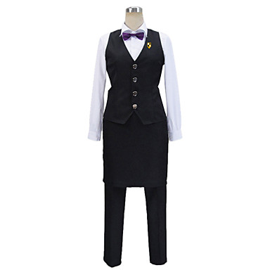 Inspired by Cosplay Cosplay Anime Cosplay Costumes Cosplay Suits Patchwork Long Sleeve Cravat / Vest / Shirt For Men's