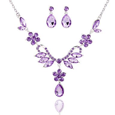 Biżuteria Ustaw Damskie Rocznica / Ślub / Zaręczynowy / Urodziny / Prezent / Piękny Jewelry Sets Stop Rhinestone Náušnice / Naszyjniki