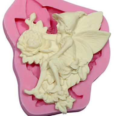 Anioł kwiat mydła silikonowe formy narzędzia dekorowanie kremówki fimo ciasto pasty dziąseł&czekolada