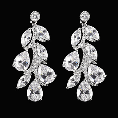 Women's 1set Stylish Cubic Zirconia Alloy Jewelry Silver Special Occasion Party / Evening Costume Jewelry