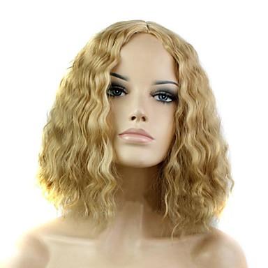 Damen Synthetische Perücken Mittel Blondine Halloween Perücke Karnevalsperücke Natürliche Perücke Kostüm Perücken