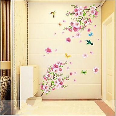 Animals Still Life Romance Fashion Botanical Wall Stickers Plane Wall Stickers Decorative Wall Stickers, Vinyl Home Decoration Wall Decal