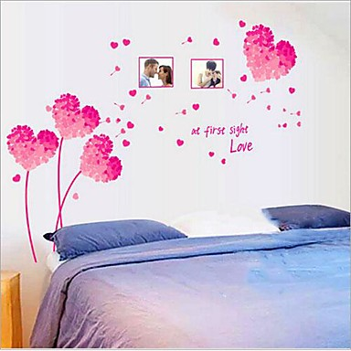 Wall Decal Decorative Wall Stickers - Holiday Wall Stickers Still Life Romance Fashion Florals Fantasy Botanical Removable