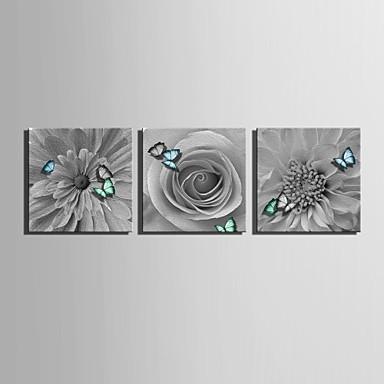Print Rolde canvasafdrukken - Bloemenmotief / Botanisch Klassiek