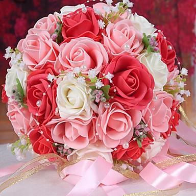 1 Tak Piepschuim Rozen Bloemen voor op tafel Kunstbloemen