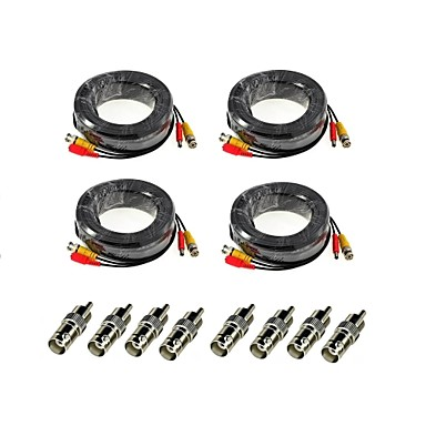 ANNKE® Câbles 4Pcs 100ft Audio Video Power Security Camera Extension Cables with Bonus BNC RCA Connectors pour la sécurité Systèmes 3000cm