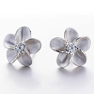 Naisten Niittikorvakorut Sterling-hopea Flower Shape Korut Käyttötarkoitus Häät Party Päivittäin Kausaliteetti Urheilu