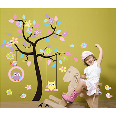 Wall Stickers Wall Decals, DIY Cartoon Tree PVC Wall Stickers